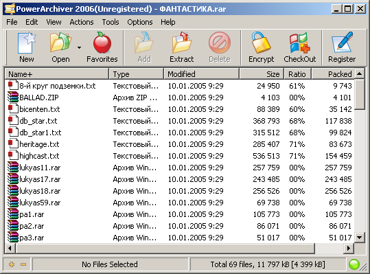Архиватор PowerArchiver 2006 Скачать